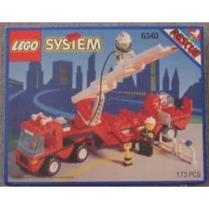 Lego (レゴ) System Rescue Hook and Ladder #6340 ブロック おもちゃ