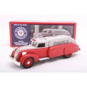 Ertl 1/25 Chevron 1930s Dodge (ドッジ) Airflow Tanker Bank: 銀/ 赤 ミニカー ダイキャスト 車