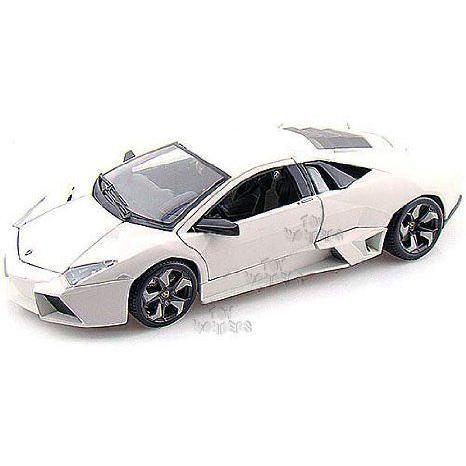 BBurago Diamond - Lamborghini (ランボルギーニ) Reventon Hard Top (1:18, 白い) ミニカー ダイキャス