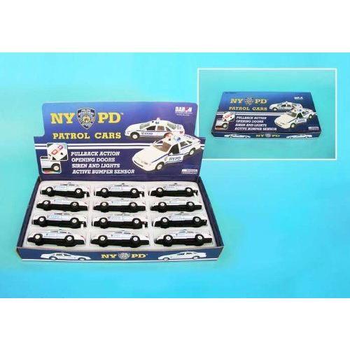 Nypd Pullback Police Cars 12 Piece Asstミニカー モデルカー ダイキャスト