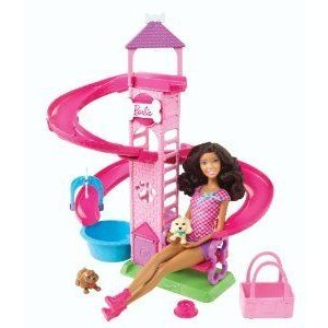 Barbie(バービー) Slide & Spin Pups African-American Doll Playset ドール 人形 フィギュア