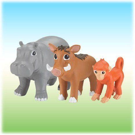 Fisher Price (フィッシャープライス) Go Diego Go Nick Jr., Safari フィギュアs Baboon, Hippo & Warth