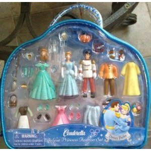 Disney (ディズニー)Park Cinderella (シンデレラ) and Prince Fashion Doll Set and Plastic Outfits in