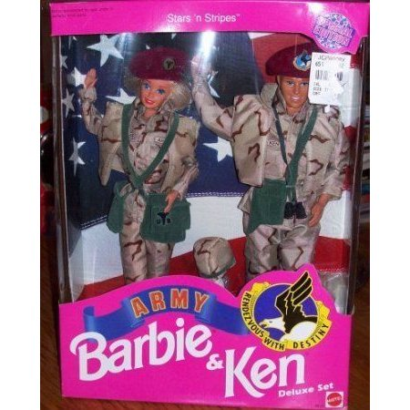 Star 'N Stripes ARMY Barbie(バービー) & Ken Deluxe Set ドール 人形 フィギュア