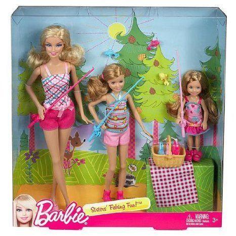 Barbie(バービー) Sisters' Fishing Fun! Set of 3 (Barbie(バービー), Stacie, Chelsea) ドール 人形 フ