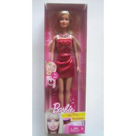 Birthstone July Barbie バービー Doll - 赤 Ruby - For Birthdays in July 人形 ドール