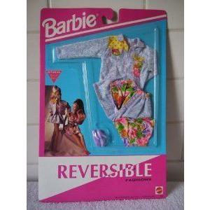 Barbie(バービー) Reversible Fashion - Denim Jacket, Floral Top, Denim Skirt (1992) ドール 人形 フ