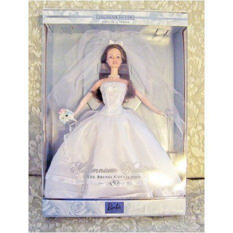 1999 Millennium Wedding Barbie(バービー) (Brunette) ドール 人形 フィギュア