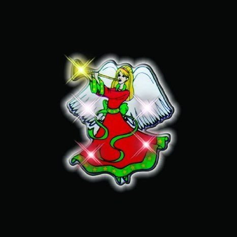 Christmas Angel Flashing Blinking Light Up Body Lights Pins (25-Pack) おもちゃ
