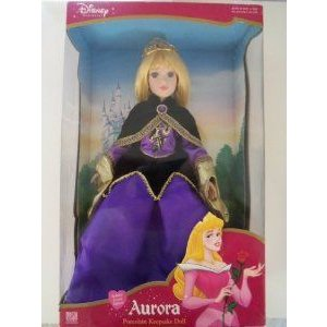 Disney (ディズニー)Sleeping Beauty Princess Aurora (オーロラ) Porcelain Keepsake Doll Holiday Jewe