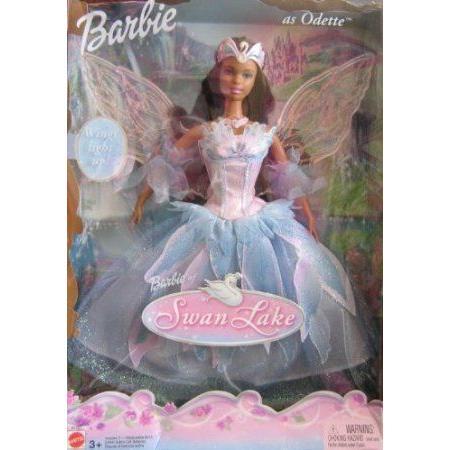 Swan Lake Barbie(バービー) as Odette Doll AA w Light Up Wings (2003) ドール 人形 フィギュア