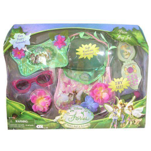 Disney ディズニー Fairies Pixie Bag Set: Tinker Bell 6 pcs Fashion Set 人形 ドール
