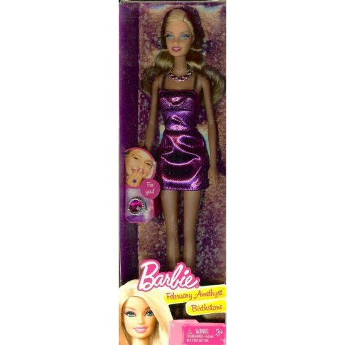 Birthstone Barbie バービー February Amethyst Birthstone 人形 ドール