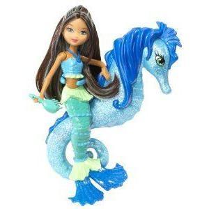 Barbie(バービー) In A Mermaid Tale Seahorse Stylist Doll - 青 ドール 人形 フィギュア