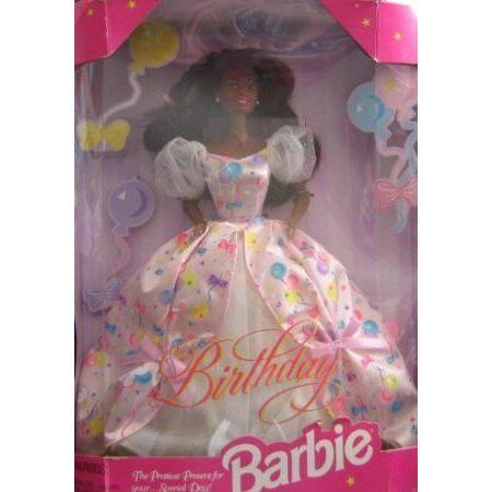 AA African American Happy Birthday Barbie(バービー) Doll Confetti Gown ドール 人形 フィギュア