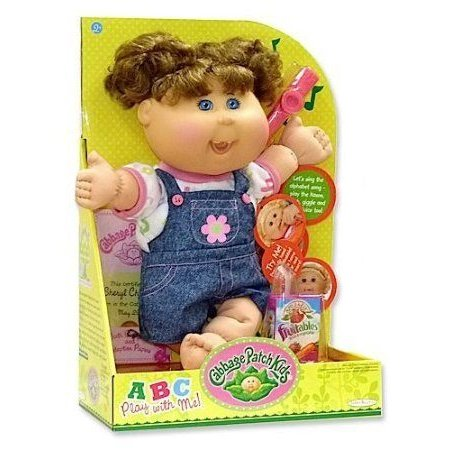 ABC Cabbage Patch Kid (Brunette Ponytails and Overalls) ドール 人形 フィギュア