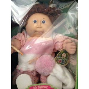 Cabbage Patch Kids (キャベツパッチキッズ) Girl Doll with 褐色 Hair and 青 Eyes. 1985 Original.