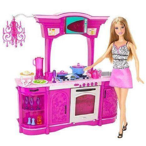 Barbie(バービー) Kitchen Play Set Glam Kitchen! ドール 人形 フィギュア