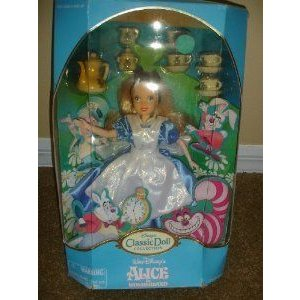 Disney (ディズニー)Classic Doll Collection Alice in Wonderland (不思議の国のアリス) with Tea Set