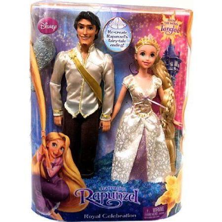 Disney (ディズニー)Tangled Doll Figure 2Pack Set Royal Celebration Flynn Rider in 白い Shirt Rapu