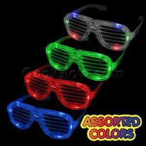 12ct LED Light Up Shutter Shades - Assorted Flashing Lights おもちゃ