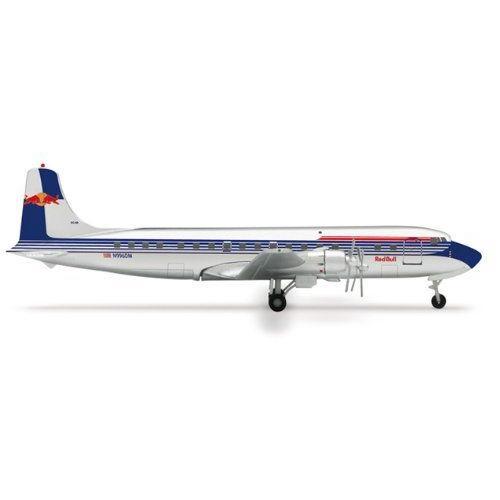1: 400 ヘルパウィング Flying Bulls DC-6B 赤 Bull