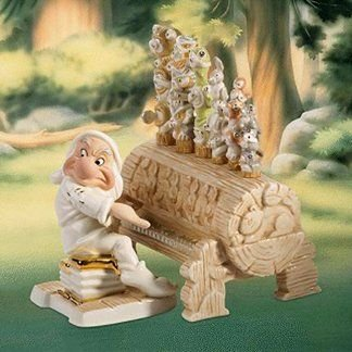 SERENADE FOR SNOW 白い GRUMPY 2 PIECE SET 白雪姫 7人の小人 ディズニーフィギュア Lenox社