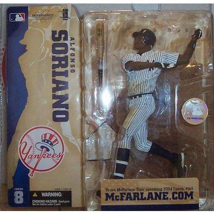マクファーレントイズ MLB フィギュア シリーズ8 アルフォンゾ・ソリアーノ ニューヨーク・ヤンキース ピ