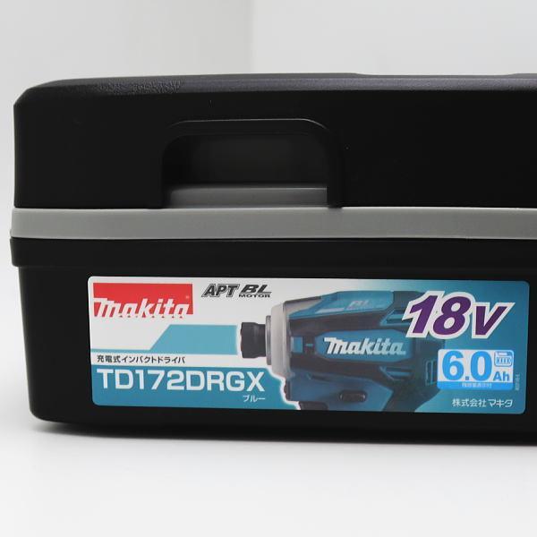 new! マキタ 純正品フルセット TD172DRGX 充電式インパクトドライバ ブルー/マキタカラー 18V 6.0Ah Makita|inage78|02