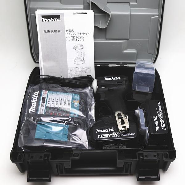 new! マキタ 純正品フルセット TD172DRGXB 充電式インパクトドライバ ブラック 18V 6.0Ah Makita inage78 03
