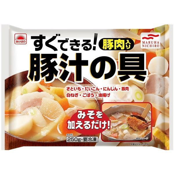 冷凍食品 業務用 あけぼの 割引 250g×20袋 ケース 日本産 豚汁の具
