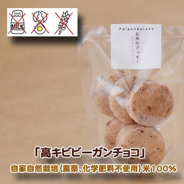 パイポン畑  高キビビーガンチョコ 米粉100%手焼きクッキー×4 グルテンフリー 自家自然栽培  inahoya