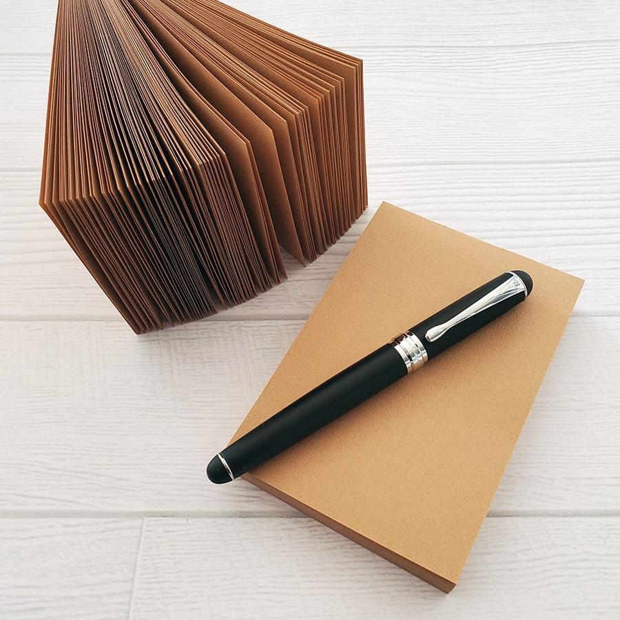 茶色メモ帳(2つ合わせて270枚程度 2冊1セット) 使い勝手が良く、たっぷり使えます! inasatukurashi
