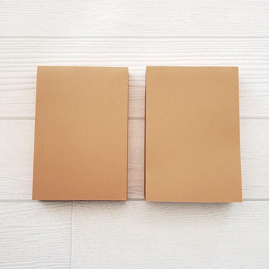 茶色メモ帳(2つ合わせて270枚程度 2冊1セット) 使い勝手が良く、たっぷり使えます! inasatukurashi 02