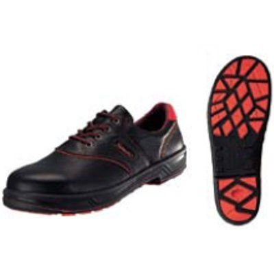 安全靴 シモンライト SL11−R 黒/赤 24.5cm (業務用)(送料無料)