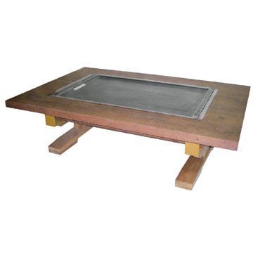 伊東金属 お好み焼きテーブル 幅1200×奥行800×高さ330 (IM-5120P) (業務用)
