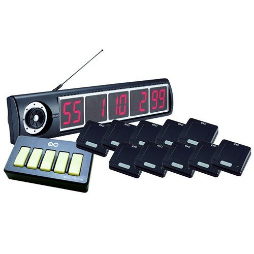 エコチャイム受信表示機/角型送信機(ブラック)10台セット/送料無料 受信表示機 幅600×奥行66.3×高さ119/送信機