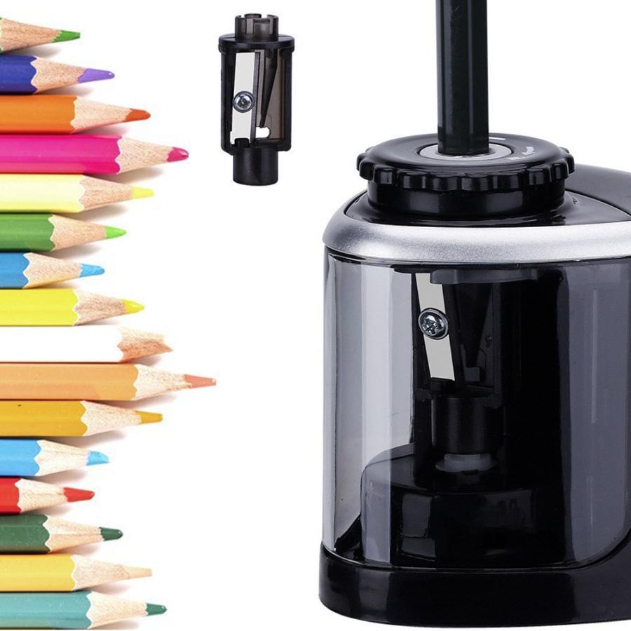 電動鉛筆削り 電動シャープナー 鉛筆削り 持ち運び便利 子供 学校|incng|09