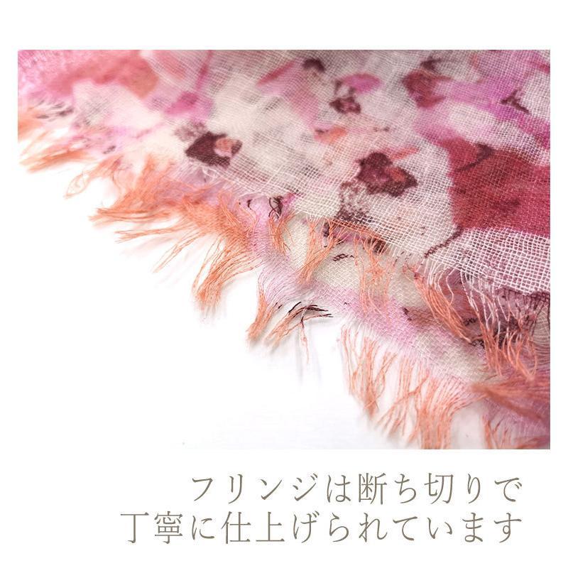 PASHMA【パシュマ】ストール シルクカシミヤ マフラー ピンク 春 誕生日 プレゼント indream 04