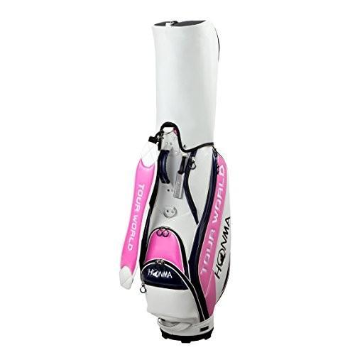 円高還元 本間ゴルフ キャディーバッグ TOUR WORLD CB-1731 メンズ ホワイト/ピンク, デコリンメガネ 8ec17607