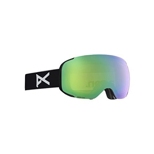 【おまけ付】 Anon(アノン) スノーボード スキー ゴーグル メンズ M2 MFI ASIAN FIT WITH SPARE 2018-19年モデル BLACK/SONAR GREEN, エフツール 71bd4a37