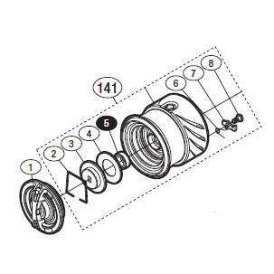 ●シマノ 14ステラC2000S(03239)用 純正標準スプール (パーツ品番105) 【キャンセル及び返品不可商品】 【まとめ送料割】
