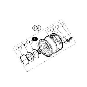 ●シマノ 16 ヴァンキッシュ C2000HGS (03498)用 純正標準スプール (パーツ品番105) 【キャンセル及び返品不可商品】 【まとめ送料割】