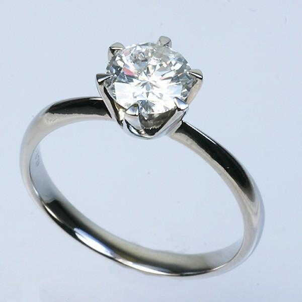 新規購入 プラチナPt900 1.0ct一粒ダイヤリング 指輪 (鑑別書付き) 21号, ホンヤバケイマチ 7704f5d9