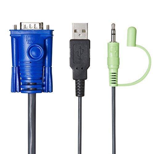 サンワサプライパソコン切替器USBノートPCにも対応自動ケーブル一体型2:1コンパクトSW-KVM2AUUN iniper-86 08