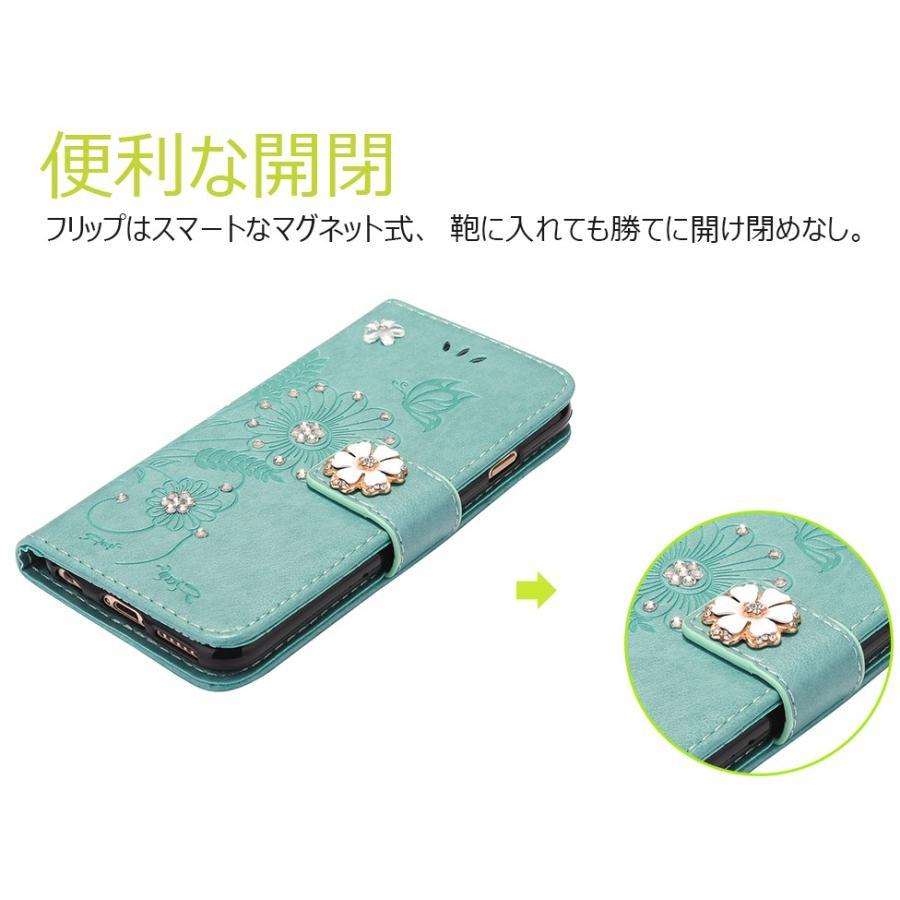 スマホケース 携帯ケース  iPhone6s iPhone7 iPhone 8 Plus ケース 手帳型 花柄 iPhone 11 X XR Xs Max SE2ケース  アイフォン6s Plus キラキラ 可愛い initial-k 02