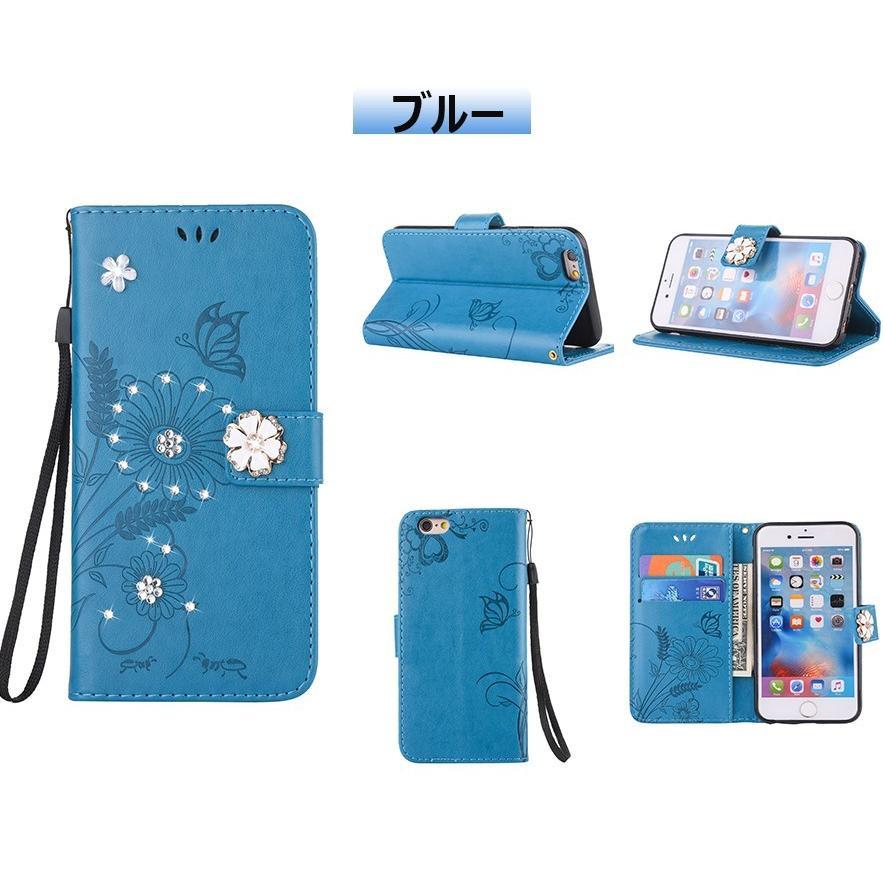 スマホケース 携帯ケース  iPhone6s iPhone7 iPhone 8 Plus ケース 手帳型 花柄 iPhone 11 X XR Xs Max SE2ケース  アイフォン6s Plus キラキラ 可愛い initial-k 11