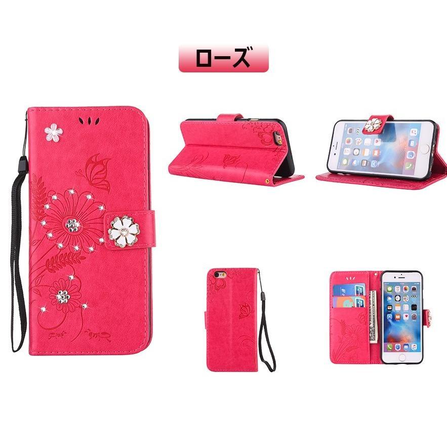 スマホケース 携帯ケース  iPhone6s iPhone7 iPhone 8 Plus ケース 手帳型 花柄 iPhone 11 X XR Xs Max SE2ケース  アイフォン6s Plus キラキラ 可愛い initial-k 12