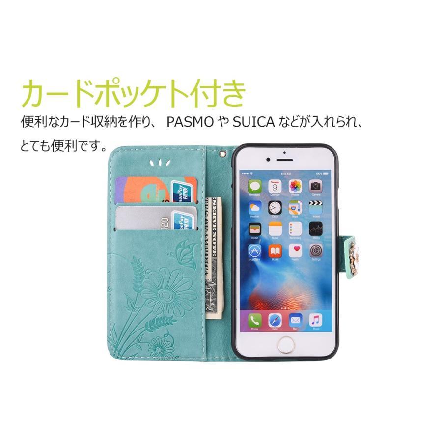 スマホケース 携帯ケース  iPhone6s iPhone7 iPhone 8 Plus ケース 手帳型 花柄 iPhone 11 X XR Xs Max SE2ケース  アイフォン6s Plus キラキラ 可愛い initial-k 04