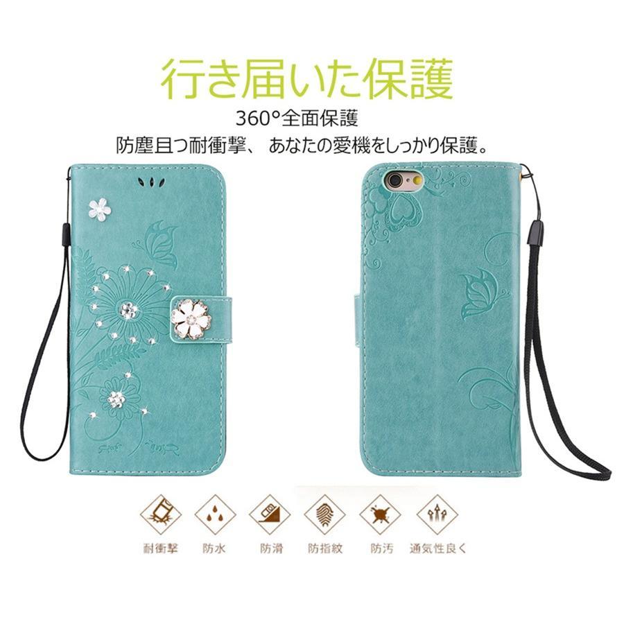 スマホケース 携帯ケース  iPhone6s iPhone7 iPhone 8 Plus ケース 手帳型 花柄 iPhone 11 X XR Xs Max SE2ケース  アイフォン6s Plus キラキラ 可愛い initial-k 06